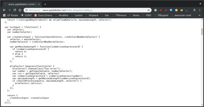 Creditly.js dosyasının içeriği
