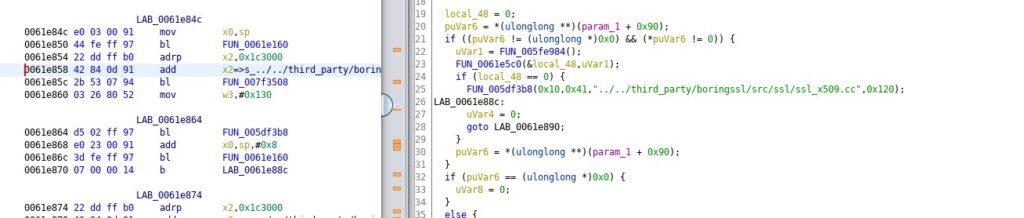 Flutter uygulamaları, compile edilip minimize edildiği için, ulaşmamız gereken fonksiyonlar libflutter.so kütüphanesi içerisinde yer alıyor.